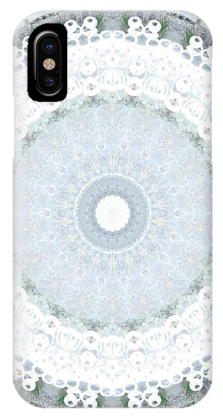 Fractals iPhone Case - Light Blue Mandala- Art By Linda Woods by Linda Woods