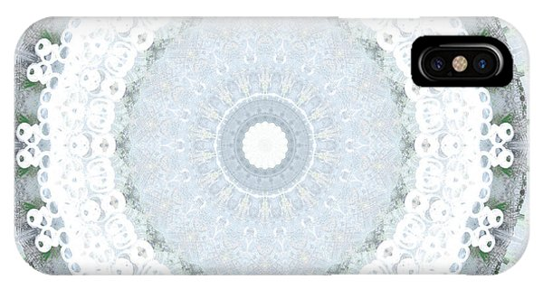 Ornamental iPhone Case - Light Blue Mandala- Art By Linda Woods by Linda Woods