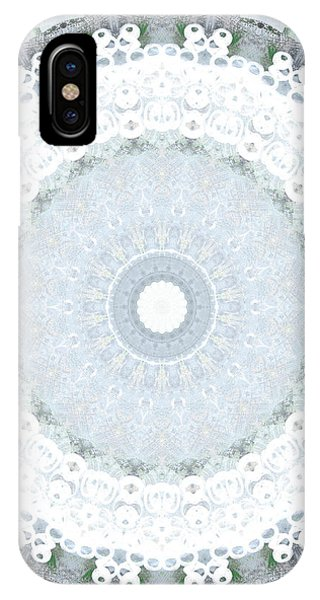 Sky iPhone Case - Light Blue Mandala- Art By Linda Woods by Linda Woods