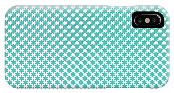 Aqua iPhone Case - Light Blue Star Of David- Art By Linda Woods by Linda Woods