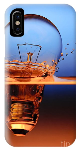 Professional iPhone Case - Light Bulb And Splash Water by Setsiri Silapasuwanchai
