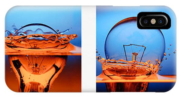 Hybrid iPhone Case - Light Bulb Drop In To The Water by Setsiri Silapasuwanchai