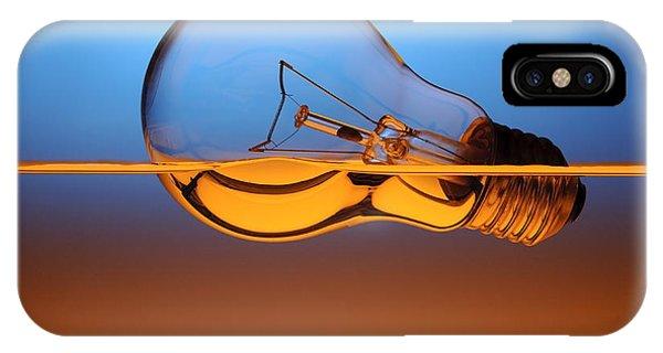 Hybrid iPhone Case - Light Bulb In Water by Setsiri Silapasuwanchai