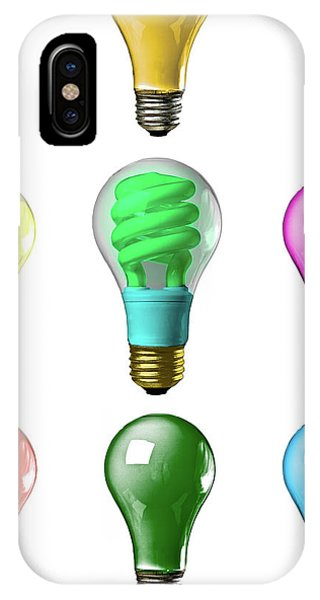 IPhone Case featuring the photograph Light Bulbs Of A Different Color by Bob Orsillo
