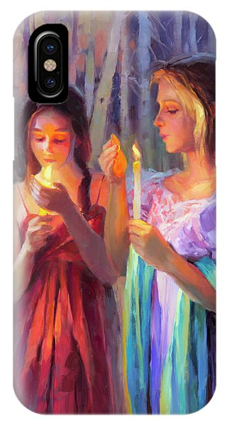 Beauty In Nature iPhone Case - Light In The Forest by Steve Henderson