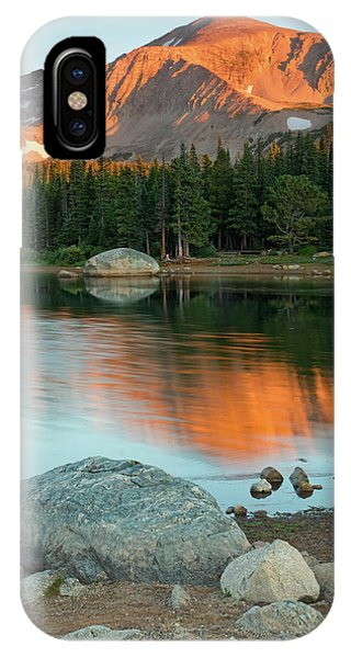 IPhone Case featuring the photograph Light Of The Mountain by John De Bord