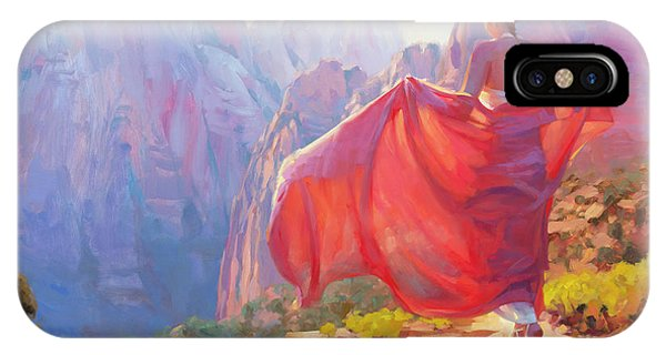 Canyon iPhone Case - Light Of Zion by Steve Henderson