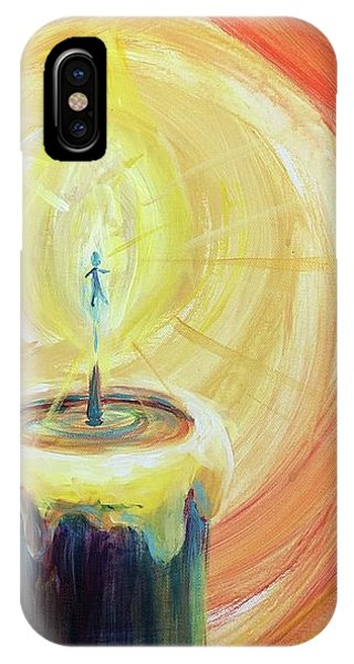 IPhone Case featuring the painting Light Shine Bright by Lisa DuBois