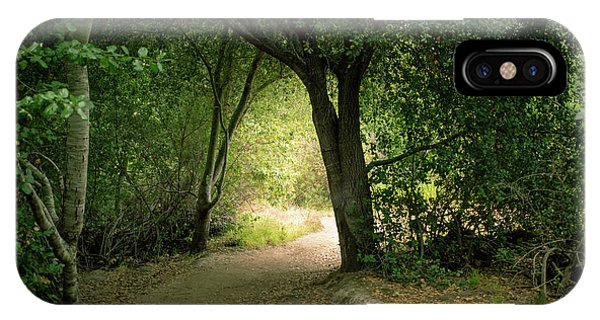 Light Through The Tree Tunnel IPhone Case