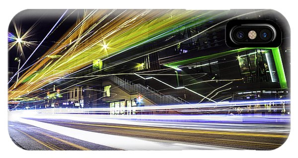 Swedish iPhone Case - Light Trails 1 by Nicklas Gustafsson