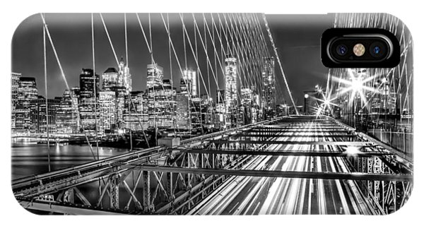 Light Trails Of Manhattan IPhone Case