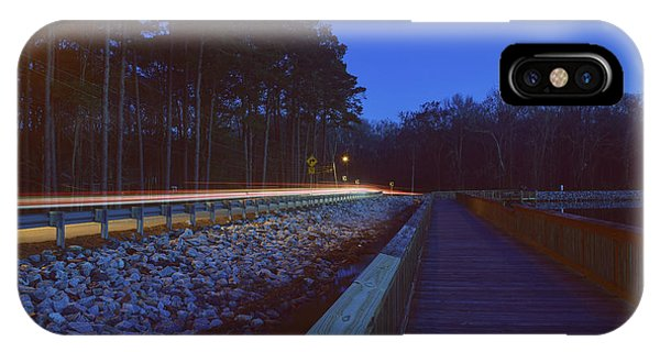 Light Trails On Elbow Road IPhone Case