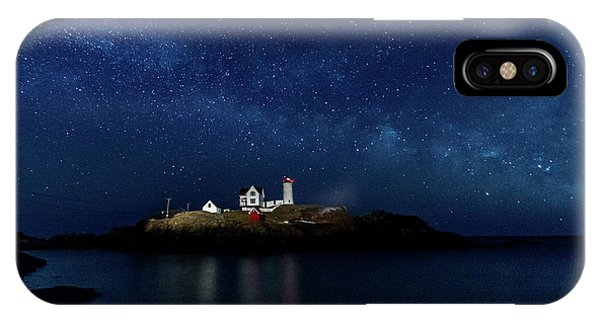 IPhone Case featuring the photograph Light Up Nubble Lighthouse by Darryl Hendricks