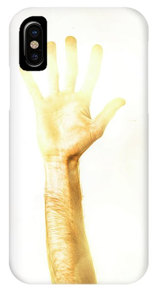 Hand iPhone Case - Light Worker Outreach by Jorgo Photography - Wall Art Gallery
