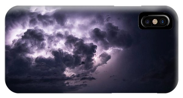 Lightening At Night IPhone Case