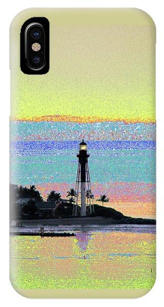 Luminous Florida Yellow At Hillsboro Lighthouse IPhone Case