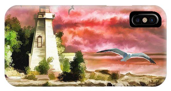 Lighthouse And Color IPhone Case