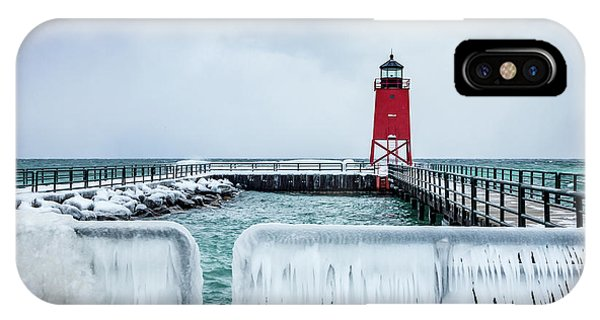 Lighthouse And Ice IPhone Case