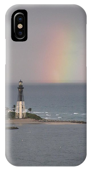 Lighthouse And Rainbow IPhone Case