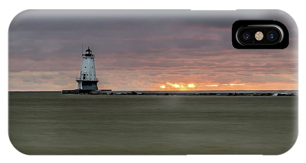 Lighthouse And Sunset IPhone Case