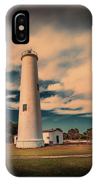 Navigation iPhone Case - Lighthouse At Egmont by Marvin Spates
