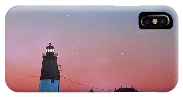 Navigation iPhone Case -  Lighthouse At Sunrise by Juli Scalzi
