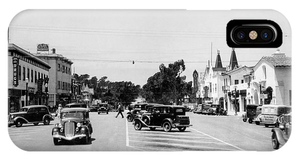 Lighthouse Avenue Downtown Pacific Grove, Calif. 1935  IPhone Case