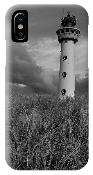 Lighthouse Bw IPhone Case
