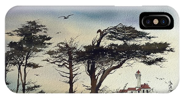 Port Townsend iPhone Case - Lighthouse Coast by James Williamson