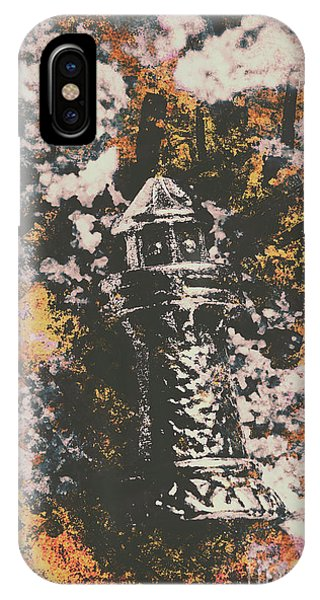 Engraving iPhone Case - Lighthouse From Rust Harbour by Jorgo Photography - Wall Art Gallery