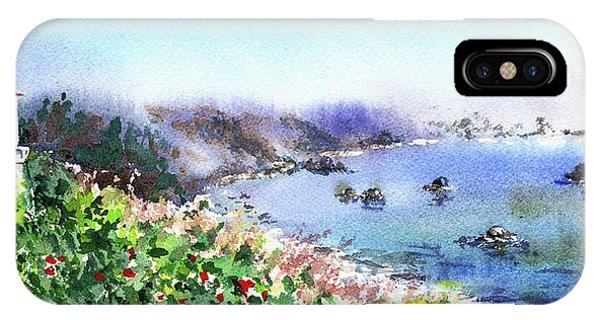 Lighthouse Wall Decor iPhone Case - Lighthouse Landscape Watercolor by Irina Sztukowski
