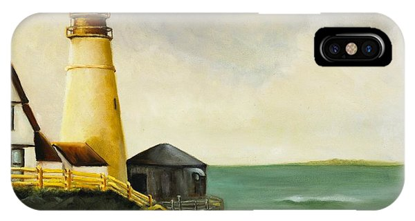 Lighthouse In Oil IPhone Case