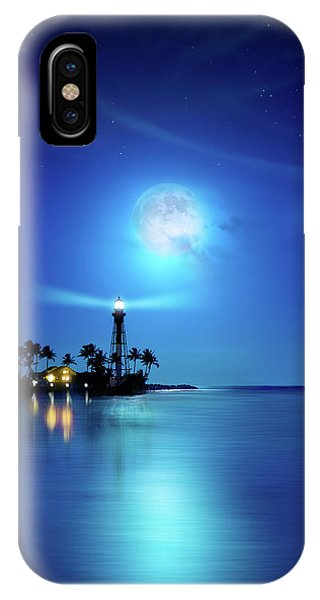 Lighthouse Moon IPhone Case