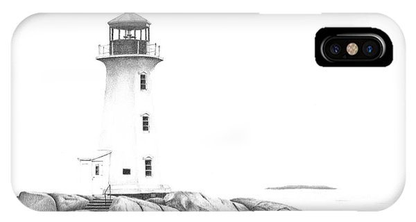 Lighthouse Of Peggy's Cove IPhone Case