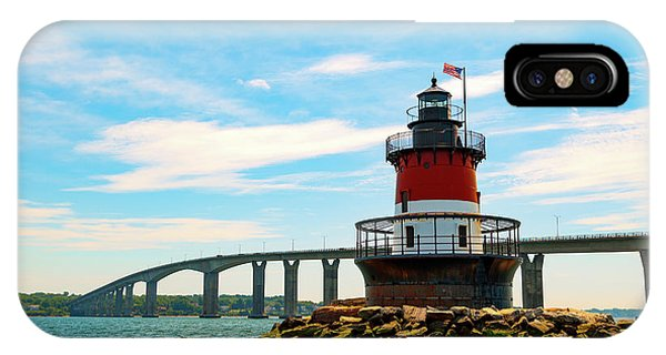 IPhone Case featuring the photograph Lighthouse On A Small Island by Brian Hale