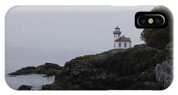 Lighthouse On Rainy Day IPhone Case