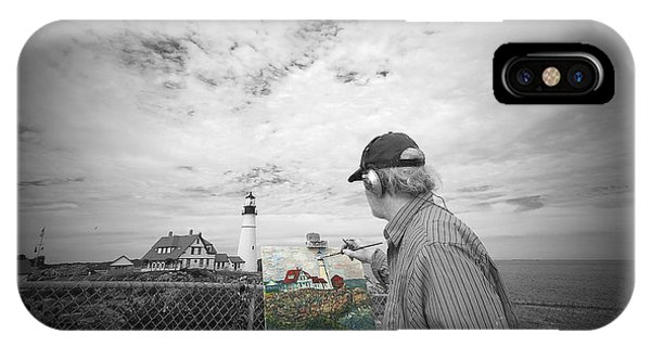Lighthouse Painter IPhone Case