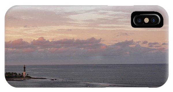 Lighthouse Peach Sunset IPhone Case