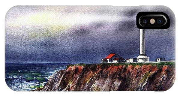 Lighthouse Wall Decor iPhone Case - Lighthouse Point Arena At Night by Irina Sztukowski
