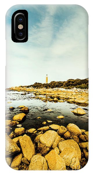 Rocky iPhone Case - Lighthouse Point  by Jorgo Photography - Wall Art Gallery