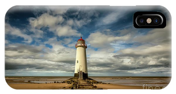 Navigation iPhone Case - Lighthouse Point Of Ayre by Adrian Evans