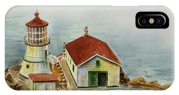 View Point iPhone Case - Lighthouse Point Reyes California by Irina Sztukowski