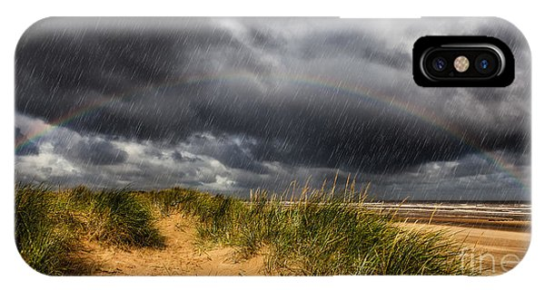 Navigation iPhone Case - Lighthouse Rainbow by Adrian Evans