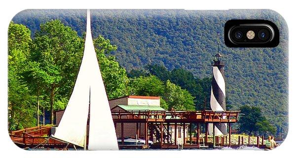Lighthouse Sailors Smith Mountain Lake IPhone Case