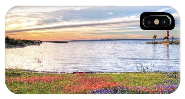 Lighthouse Sunset At Lake Buchanan IPhone Case