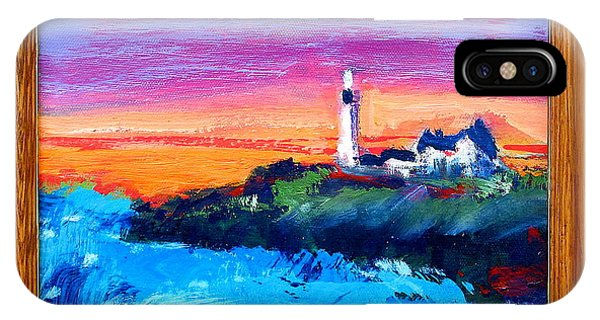 Lighthouse Sunset IPhone Case