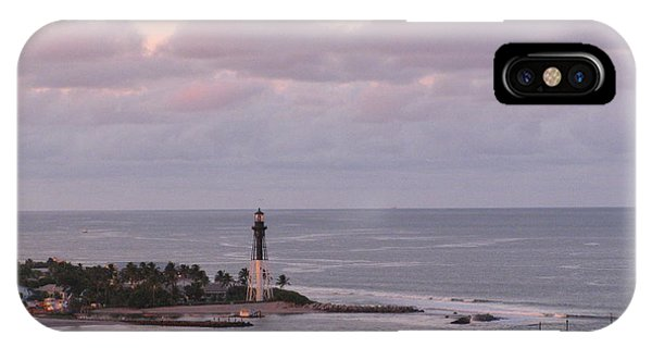 Lighthouse Sunset Peach And Lavender IPhone Case