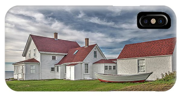 Keepers House At The Monheagn Lighthouse IPhone Case