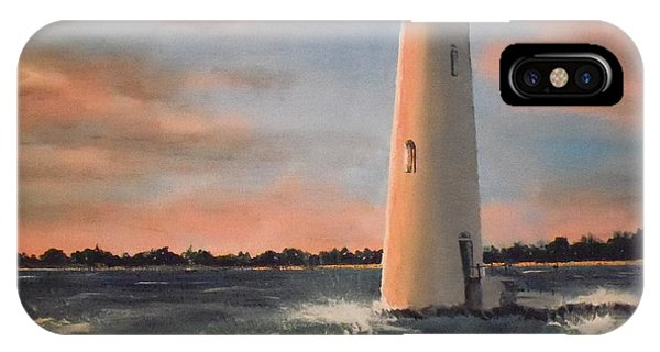 Lighthouse Waves IPhone Case