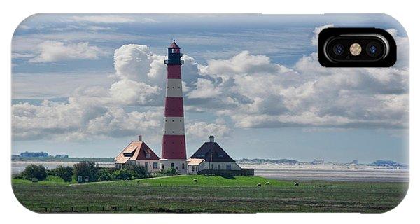 Navigation iPhone Case - Lighthouse Westerheversand by Joachim G Pinkawa